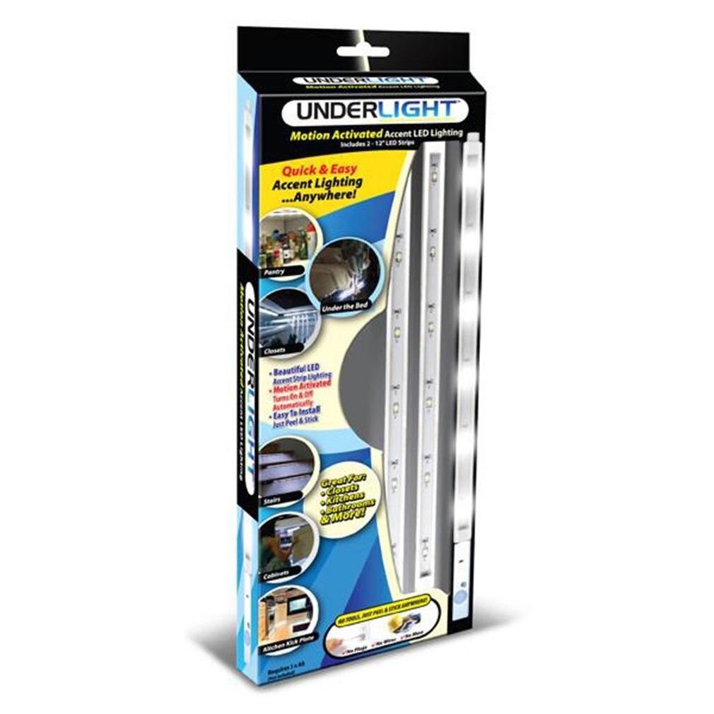 Unter Licht LED Bars Streifen Licht Underlights Motion Sensor Batterie Aktiviert Accent Beleuchtung für Schränke Treppen Hauseingängen