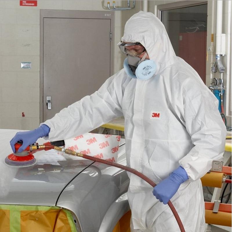 3M 4510White non-woven tyg Coverall Kläder Antistatisk och - Säkerhet och skydd - Foto 4