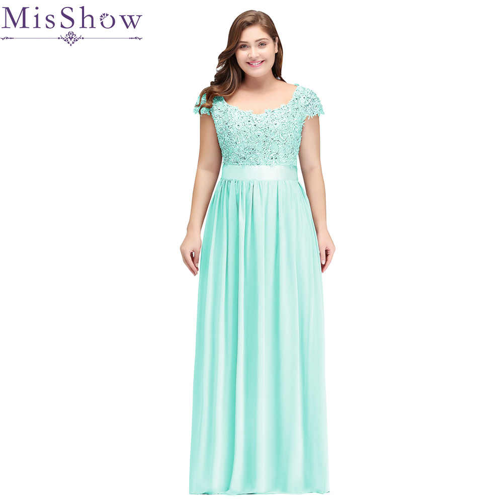 Robe De Soiree 2019 Mint Green Plus Size Evening Dresses ...