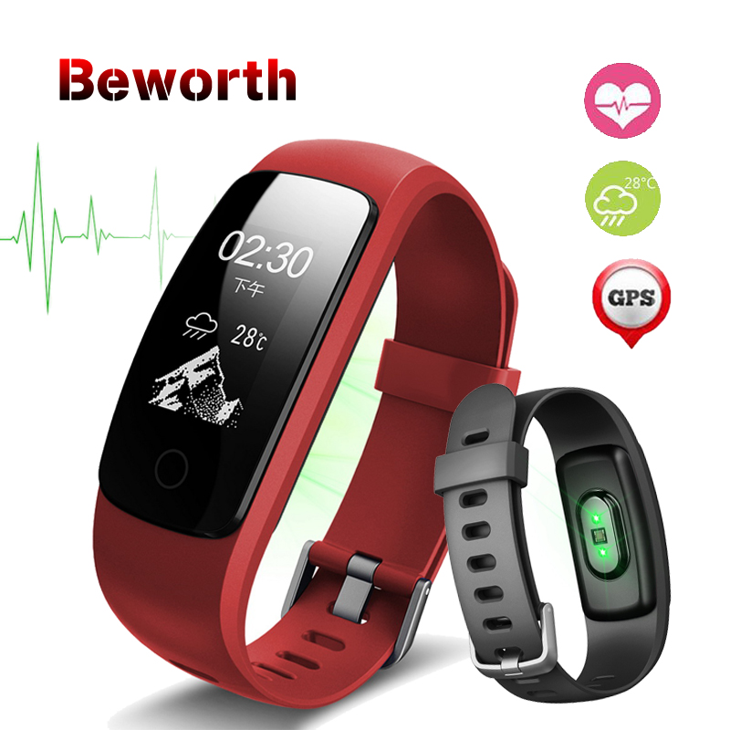 ID107 Plus HR GPS Smart Bracelet Heart Rate Monitor Pedometer Smartband Bluetooth Fitness Band Activity Sports Tracker Wristband