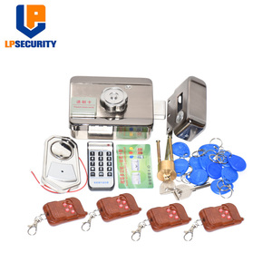 Image 1 - Remote control Electronic RFID Door Gate Lock/Smart Electric Lock Magnetic Induction Door Entry Access Control System 10 tags