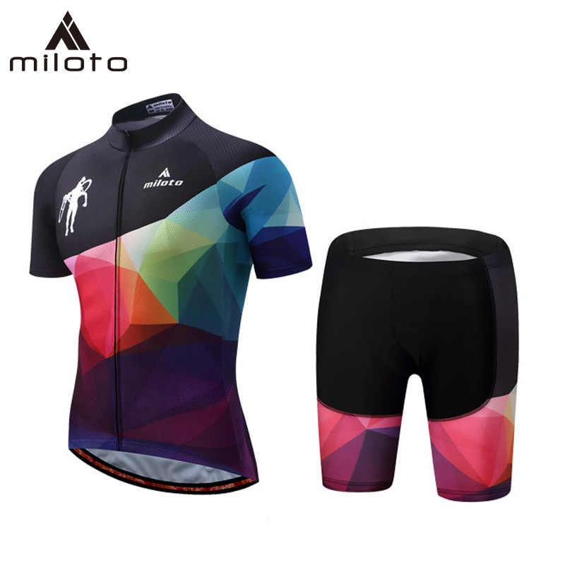 MILOTO Ciclismo Jersey pantalones cortos conjunto 2019 Ropa de bicicleta de montaña MTB Ropa de bicicleta Ropa de Maillot Ropa de Ciclismo