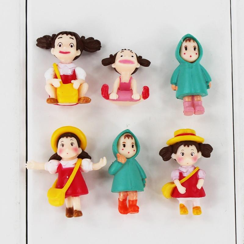2-3cm 6Pcs/Lot Japanese Anime My Neighbor Totoro Hayao Miyazaki Film Mini Mei May PVC Action Model Toys Doll Gifts for Kids