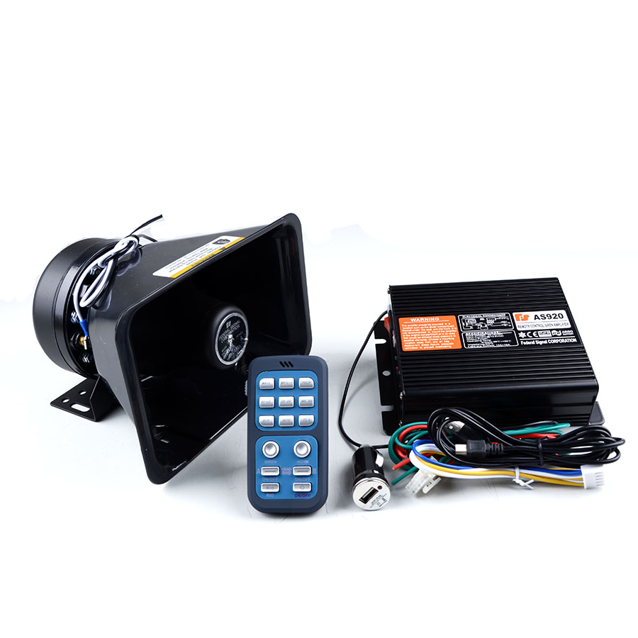 200w Police Siren As920 Amplifier Car Alarm With Wireless Multitone Circuit Diagram 200 W Polis Amplifikatr Araba Sireni Ile Kablosuz Uzaktan Kumanda Siyah Su