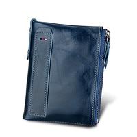 Hot Genuine Leather Women Wallet Purses Coin Purse Female Small Portomonee Bifold Rfid Wallet Lady Purse