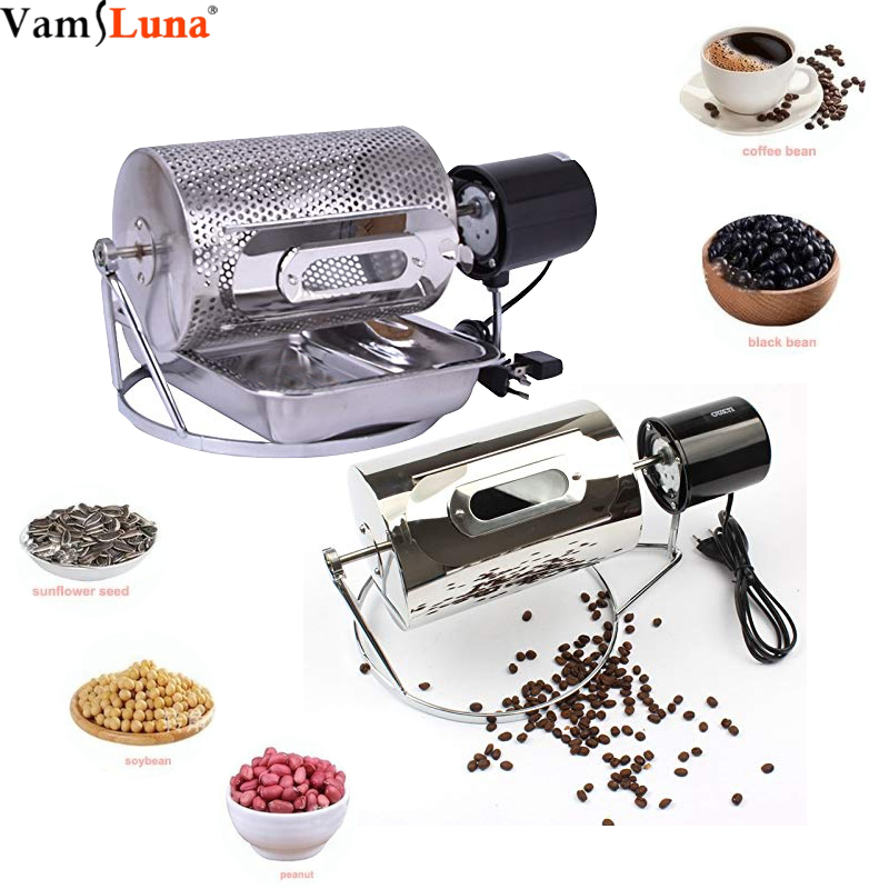 Mini Coffee Roaster Stainless Steel Baking Coffee Beans Manual Peanut Machine Seeds Nut Baking Tooled In The Stove(China)