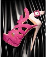 Women Pink Sandals Cut out Peep Toe Cross Strap Platform Summer Dress Shoes Geometric Gladiator Heels Strapy Shoes Plus Size