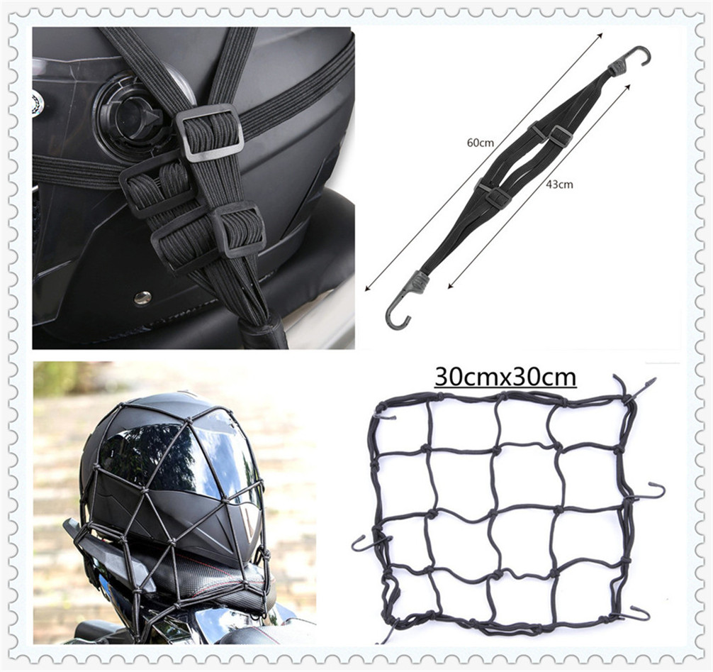 Motorcycle accessories mesh hook storage luggage cargo helmet net for <font><b>Buell</b></font> <font><b>1125CR</b></font> 1125R M2 Cyclone S1 Lightning Ulysses image