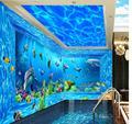 Фрески обои гостиной диван Украшения Дома Ocean World 3d настенные обои пространство