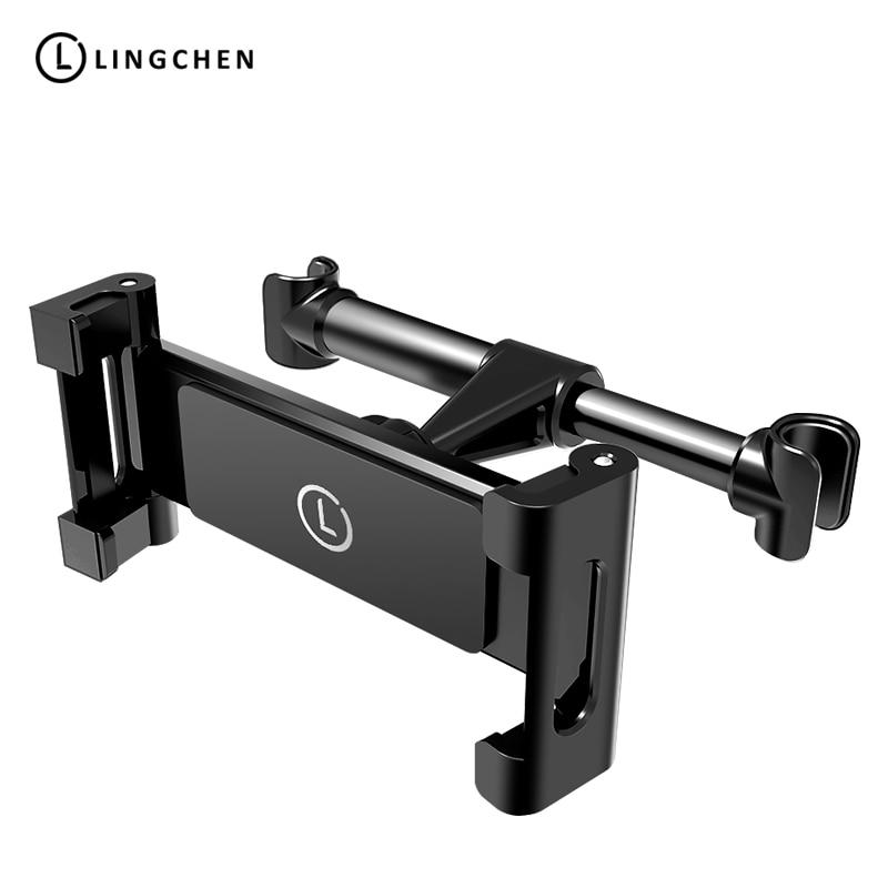 LINGCHE Universal Back Seat Car Holder For Tablet Adjustable Car Phone Holder Tablet Holder Stand For iPad Car Headrest Bracket