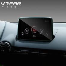 Vtear para Mazda CX-3 CX3 para pantalla de navegación GPS de material de acero de película protectora LCD película de la pantalla etiqueta engomada accesorios 2017-20120