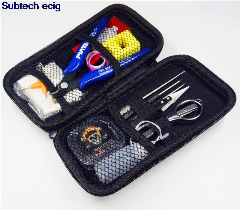 PIRATE Coil Vapor Tool Kit RDA RBA E Cig Tools Kit DIY Tool Bag For Ecig Vaporizer Atomizers Coil Designer