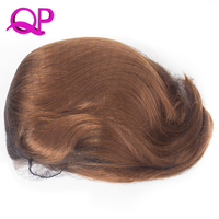 Qp Hair Black Ombre Blone Straight Bob Synthetic Lace Front Wigs For Women High Temperature Short