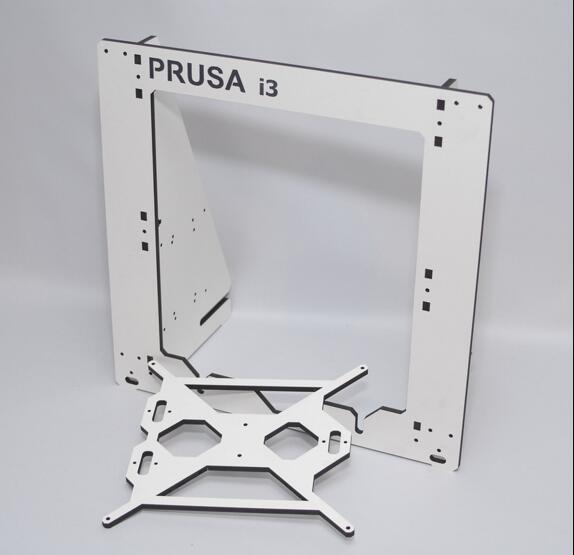 3D printer frame for Prusa i3 assemble frame aluminum composite plate 6mm thickness housing white color good quality цена