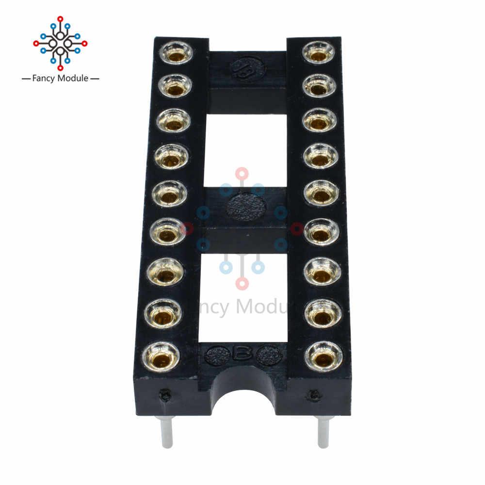 1 ชิ้น 18 - pin DIP SIP รอบ IC ซ็อกเก็ตอะแดปเตอร์ - Bonded Gold ชุบเครื่อง