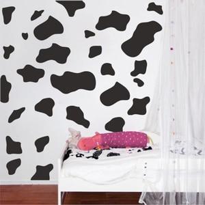 50Pcs Cartoon Cow Spot Wall Sticker Nursery Kids Room Animal Milk Cow Skin Dot Wall Decal Bedroom Play Room Vinyl Decor(China)