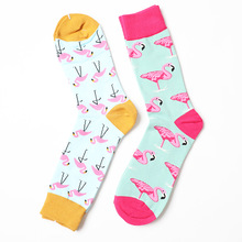 Gear Street Tide Novelty British Style happy funny sock Flamingo
