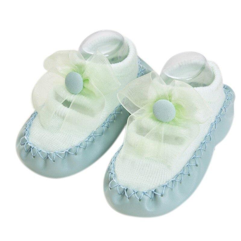 Bebé niños niñas primavera otoño algodón zapatos calcetines lindos calientes antideslizantes zapatos de suelo infantil calcetines calentador interior caminar aprendizaje Calcetines - 5