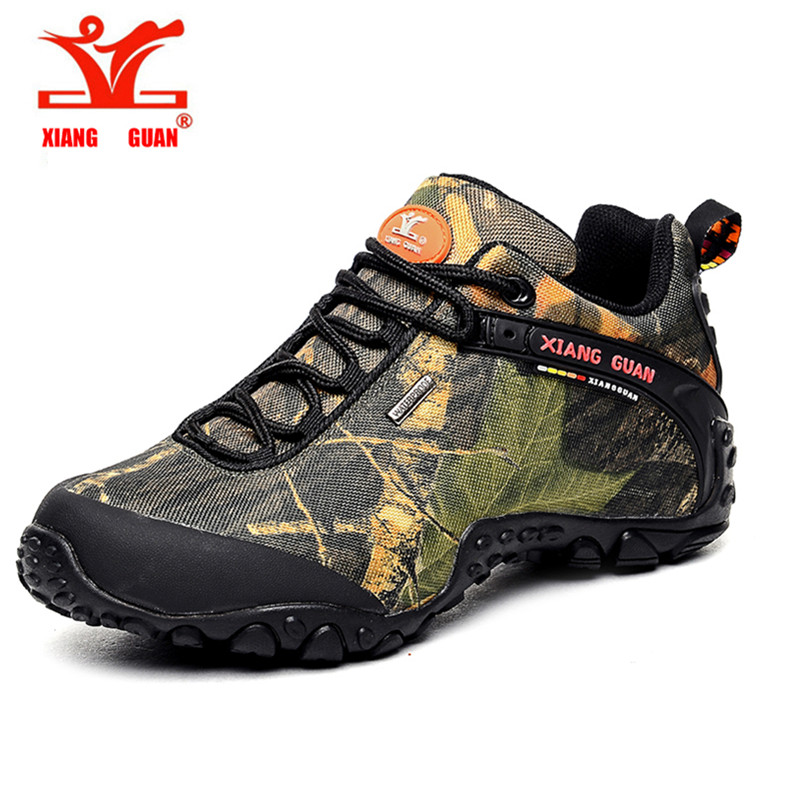 ФОТО 2016 XIANGGUAN outdoor waterproof canvas hiking shoes low boots Anti skid Wear resistant breathable fishing climbing shoes