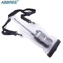 2 sztuk Abbree wysokiej jakości wodoodporna torba Case dla Baofeng BF 888S UV 5R UV 82 TYT Wouxun Motorola Walkie Talkie dwukierunkowe Radio