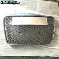For Audi Q7 SQ7 RSQ7 Front Hood Center Grille Grill Car Styling 2007 2015 with 4ring logo