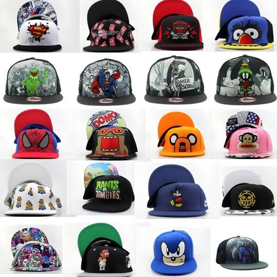2015 New Cartoon Snapback baseball Caps Superhero DAFFY DUCK and mouse  men s   women s fashion Adjustable baseball hats faf7b7cd6a5