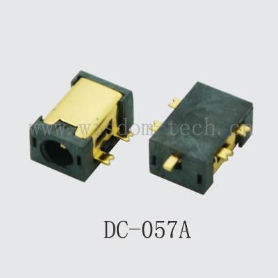 500pcs/lot DC Connector SMD Golden DC Power Jack  Tablet Female + Male Plug PCB Mounting 2.35mmX0.7mm  DC057A SINK TYPE-in Connectors from Lights & Lighting    1