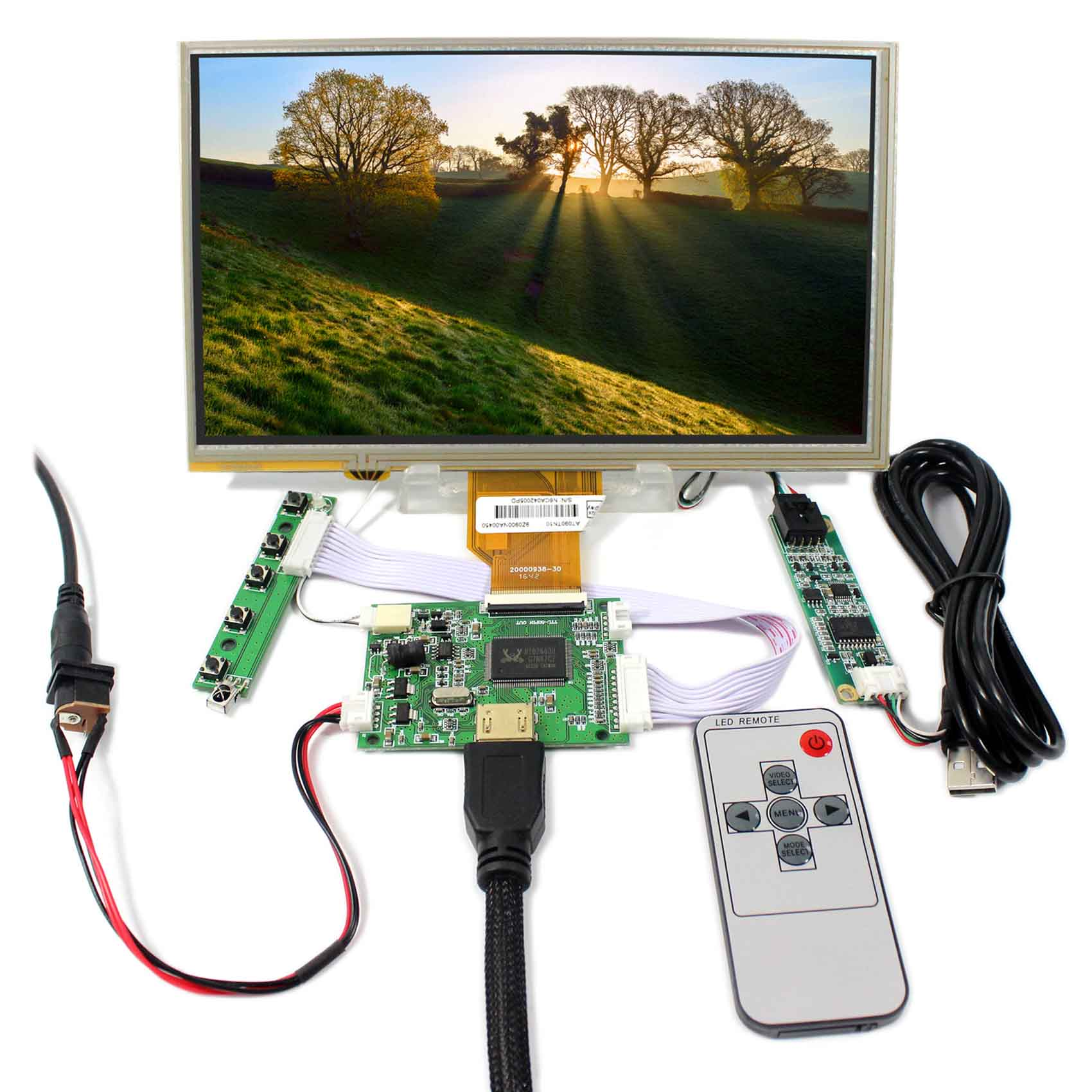 все цены на HDMI LCD Controller Board With 9inch 800x480 AT090TN10 Touch LCD Screen
