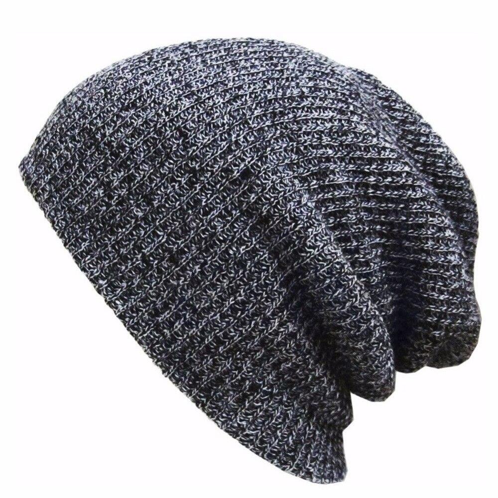 2018 sombreros de invierno sombrero de color sólido unisex llano cálido  suave gorrita tejida sombreros hechos punto touca gorro gorras para hombres  Mujeres ... 3f757584425