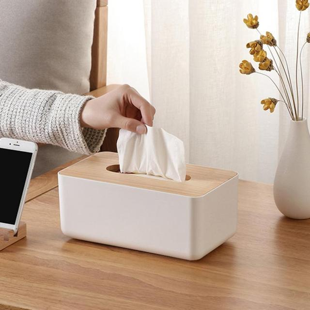Wooden Bathroom Accessories Tissue Box Bamboo Napkin Case Car Home  Decoration In Tissue Boxes From Home U0026 Garden On Aliexpress.com | Alibaba  Group