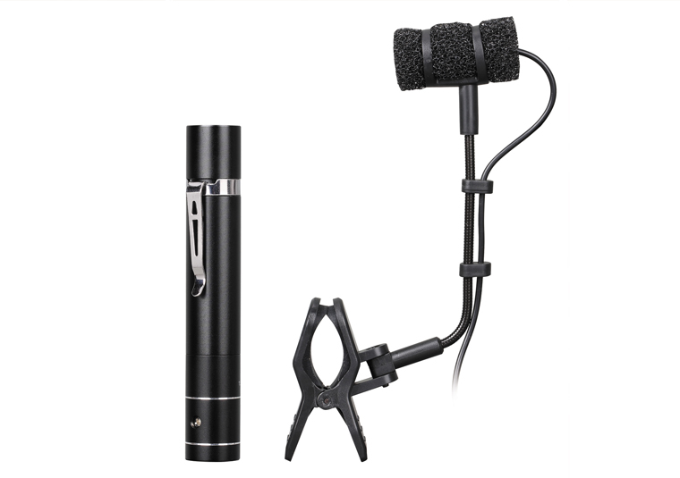 Power supply included musical instrument mic condenser microphone for stage performance For flute erhu gill Siamese flute etc saxophone microphone professional orchestra trumpet sax gooseneck musical instrument mic condenser microphone stage performance