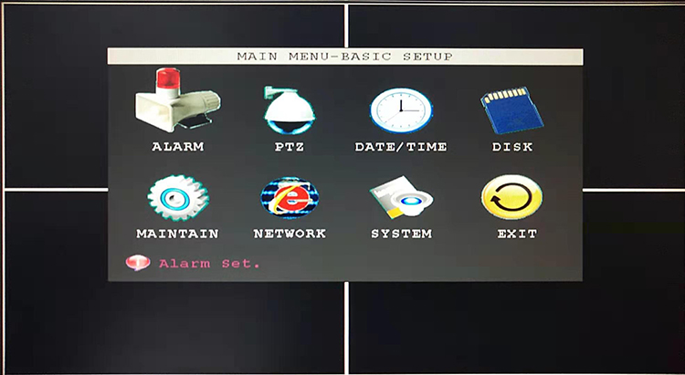 Vigilância de vídeo Local host SD card