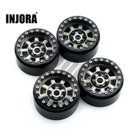 4PCS Metal 1.9 Beadlock Wheel Rim for 1:10 RC Crawler Axial SCX10 90046 90047 TAMIYA CC01 D90 D110 RC Car Wheel Hub