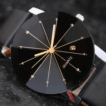 Fashion Simple Stylish Top Brand Thin Dial Watch Men Clock