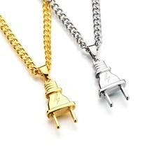2017 Fashion  Hip Hop Baseball Bat Gun Necklace&Pendant GOLD Silver Weed Leaf Hiphop Long Chains Necklaces Men Women Jewelry