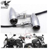 Top qualität Galvanisieren splitter harley blinker licht für Harley Davidson Zubehör motorrad LED blinker brems beleuchtung -