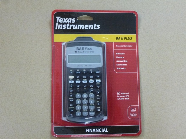 Brand New Texas instruments BA II Plus Financial Calculator cfp frm - financial calculator