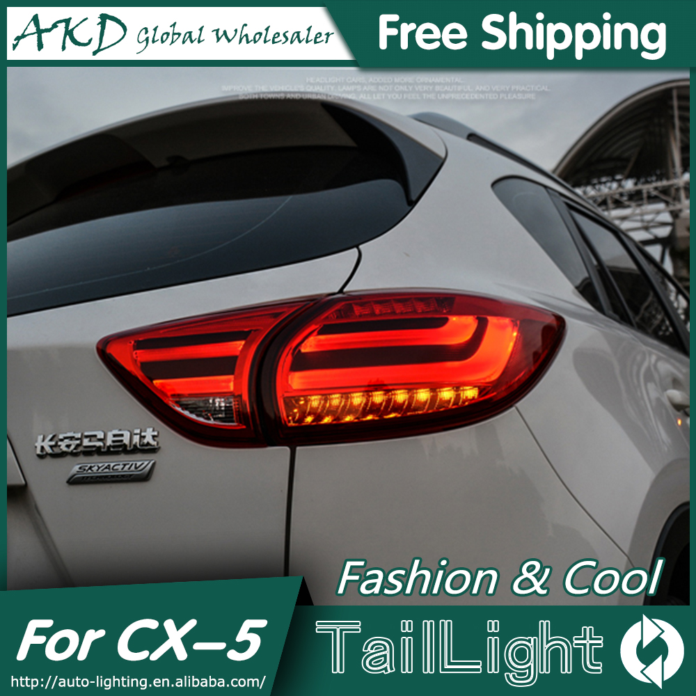 AKD Car Styling for Mazda CX-5 Tail Lights 2011-2015 Mazda CX-5 LED Tail Light Rear Lamp DRL+Brake+Park+Signal