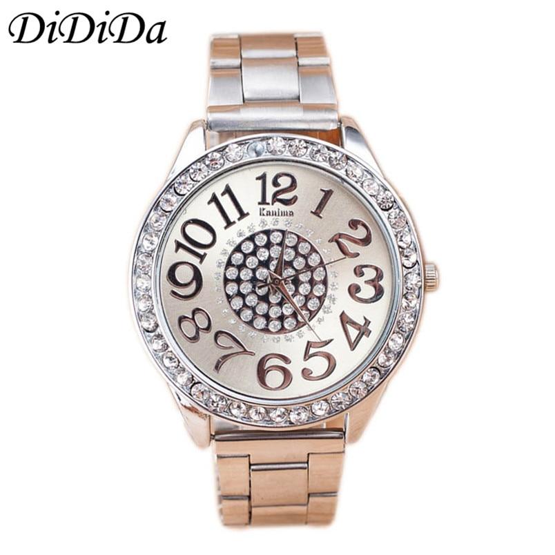 1 UNIDS Relojes de Las Mujeres de Lujo de Acero Inoxidable Diamante - Relojes para mujeres