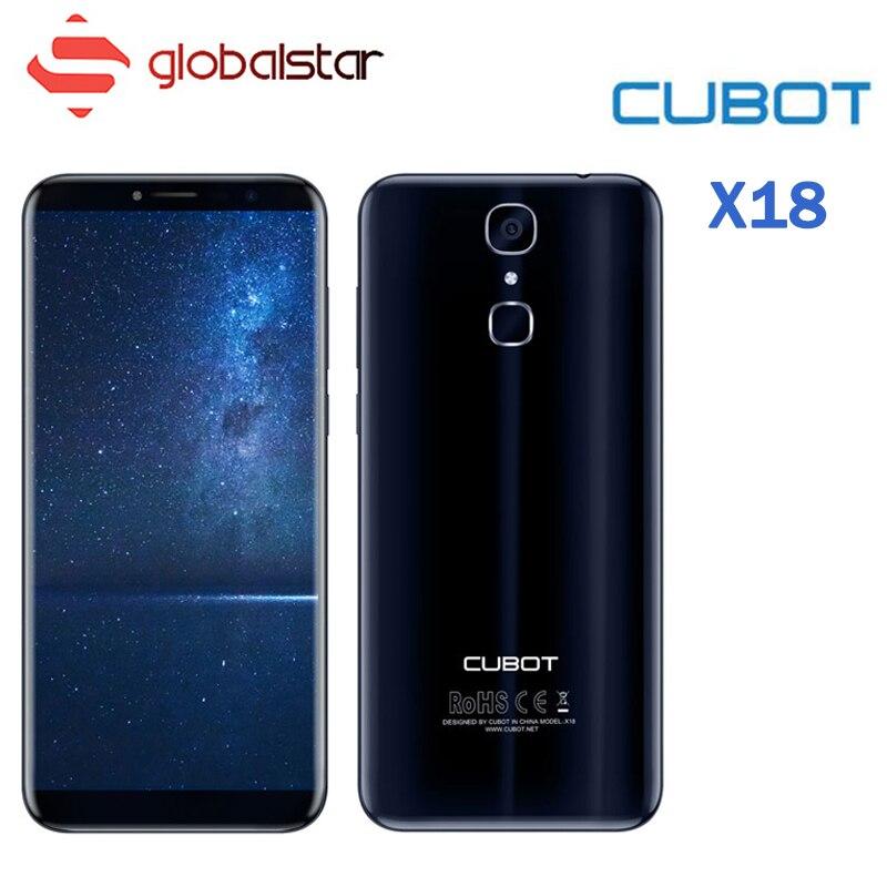 Cubot X18 5.7 pouce 18:9 HD Écran MTK6737T Quad Core Smartphone 3 gb RAM 32 gb ROM Android 7.0 13MP 4g FDD LTE Fingerpr Cellulaire Téléphone