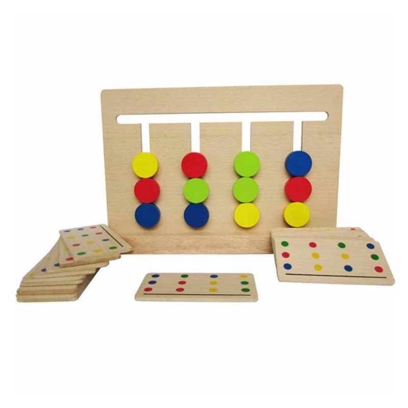 New Hot 1 Set Baby Toy Montessori Four Colors Game Color Matching For Early Childhood Education Preschool Training Learning Toys