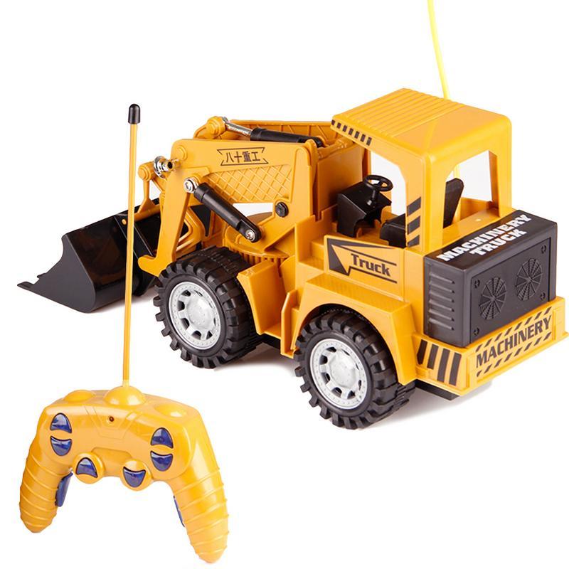 Afstandsbediening Speelgoed Rc Truck 5ch Full-functie Afstandsbediening Graafmachine Bulldozer Bouwplaats Auto Voor Kinderen Geschenken 50% Korting