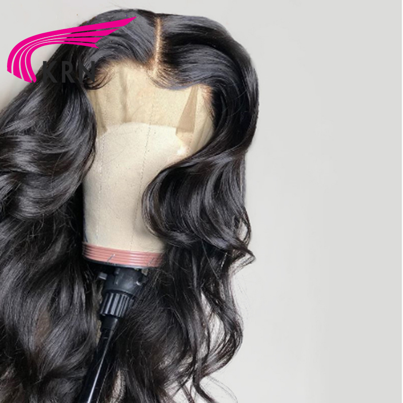 KRN 13*6 Lace Front Human Hair Wigs For Women Brazilian hair Body Wave Lace Frontal Wig Remy Hair Pre Plucked With Baby Hair