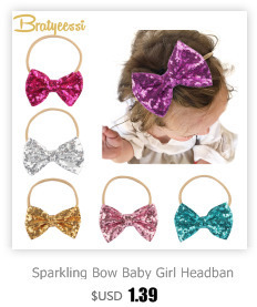 5f6afdb777a9 מוצר - Sparkling Hair Accessories Bow Baby Girl Headbands Elastic ...
