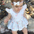 KAMIMI 2017 новый ребенок весной платье партии платья балетной пачки дети одежда принцесса короткое платье ребенок цветок печатных платье девушка одежда