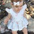 Kamimi 2017 novo bebê primavera roupa das crianças princesa vestido curto vestido de festa vestido tutu criança roupas vestido da menina de flor impressa