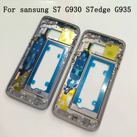 Middle Frame For Samsung Galaxy S7 G930F S7 Edge G935F Mid Bezel Metal Frame Housing Chassis