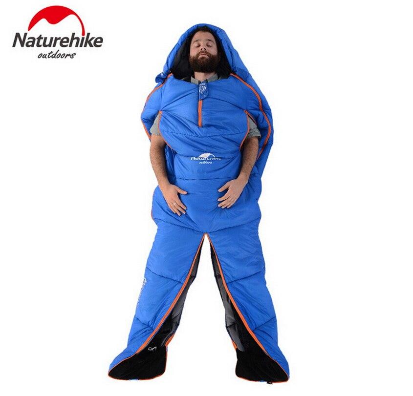 Naturehike patented design humanoid sleeping bags, outdoor camping, outdoor survival, travel, driving sleeping bag. four seasons цена 2017