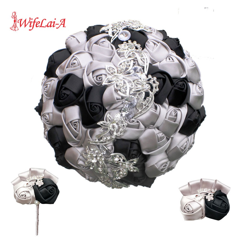 WIFELAI-A Artificial Rose For Wedding Dancing Party Bride Bouquet Groom Boutonniere Wrist Corsage Bridal Holding Flowers 2216-T