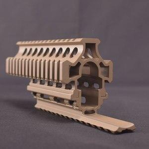 Image 5 - טקטי זרוק ב Quad Rail היקף הר RIS Quad Handguard עבור AK 47 AK74 AKS ציד ירי Airsoft רובה אבזר שחור/טאן